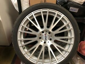 2012 2020 Ford Mustang 20in Rims And Tires Kmc Km706 Silver Machined W Clearcoat