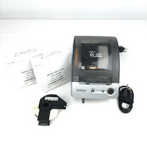 Brother P touch Ql 500 Label Thermal Printer W New Labels 2 3 X 3 7 16 Tested