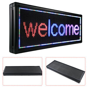Led Sign 40 X 15 Outdoor Commercial Scroll Message Board 3 color