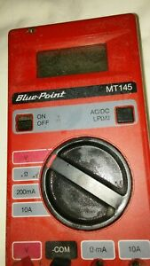Blue Point Mt145 Multimeter Red Face And Black Back Ac dc Voltage