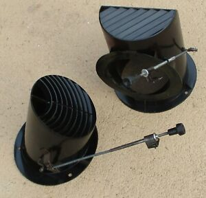 Oem 1967 Ford Fairlane Ranchero 289 Left Right Dash Cowl Air Vents With Cables
