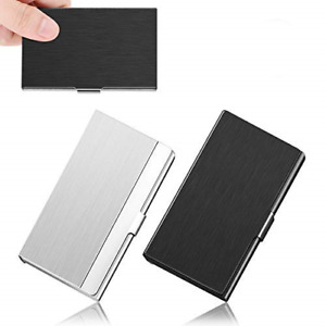 Asoffi 2 Pack Professional Business Card Holder Id Ic Cards Storage Case