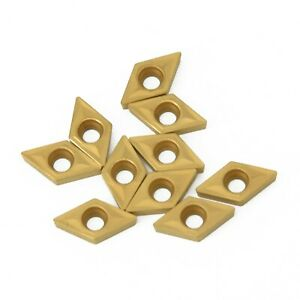 Dcmt070204 Us735 Dcmt21 51 Carbide Inserts For Lathe Cutter Gold Turning Tools Z