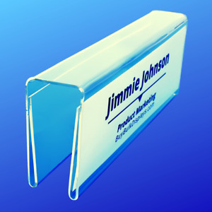 Cubicle Name Tag Holder Double Sided 2 Pack