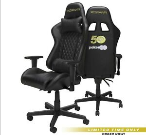 Respawn 100 50th Anniversary World Series Of Poker Racing Style Gaming Chair