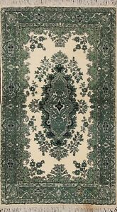 Vintage Floral Traditional Oriental Area Rug Hand Knotted Wool Foyer Carpet 3x5