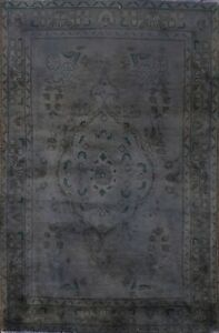 Vintage Over Dyed Floral Oriental Traditional Area Rug Hand Knotted Wool 3x5 Ft