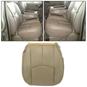 For 2003 04 05 2006 Chevy Tahoe Suburban Passenger Bottom Seat Cover Tan Leather