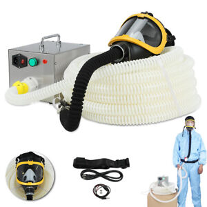 Constant Flow Airline Supplied Fresh Air Ventilator System Fullface Gas Mask 80w