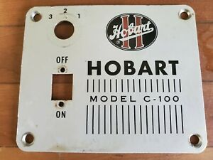 Hobart C 100 10 Quart Mixer Black Switch Style Switch Plate for Parts Only