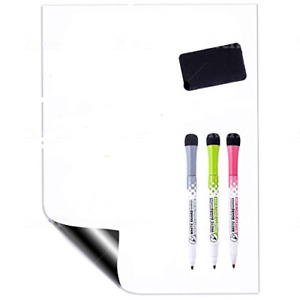 Magnetic Dry Erase White Board Sheet For Refrigerator By Gosupplywise Small 3