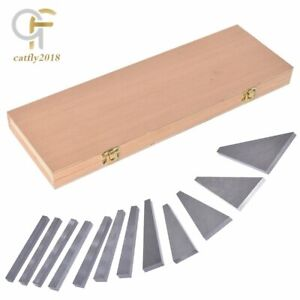 New Steel 1 4 To 30 Degree Gauge Block Precision Angle Block Set 12 Pack