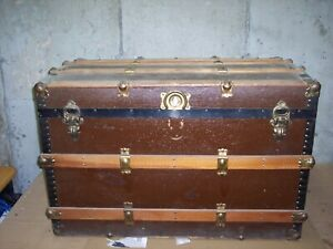Antique Trunk With A Very Slight Dome