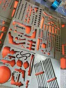 Ah539 Very Large Foam Cutouts For Mostly Snap On Tools Designed For Vidmar Box