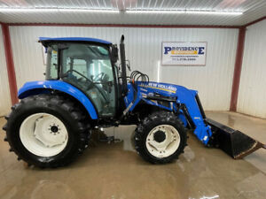 2013 New Holland T4 75 4wd Cab Tractor Loader