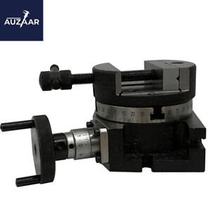 4 100mm Rotary Table With 4 Round Vise Vice Fixing T Nuts Metalworking Milling