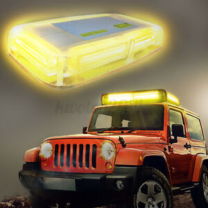 Ambother Amber Yellow 6 Cob Led Strobe Light Magnetic Rooftop Emergency Warning