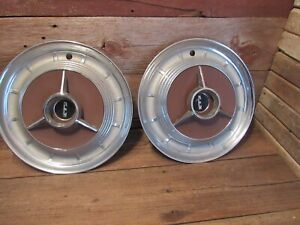Vintage 1958 Ford Edsel Hubcaps Wheel Covers Center Caps Antique Fomoco