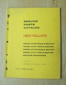 New Holland 675s 675t 677s 677t Manure Spreader Service Parts Catalog Manual