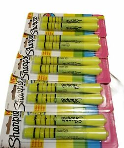 Sharpie Ink Indicator Tank Highlighters Chisel Tip Fluorescent Yellow