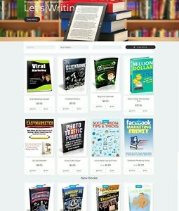 Turnkey Ebooks Shop Website For Sale 330 Books Included Free Host Install