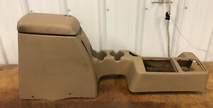 1997 2000 Jeep Wrangler Tj Full Center Console Coin Arm Rest Storage Tan