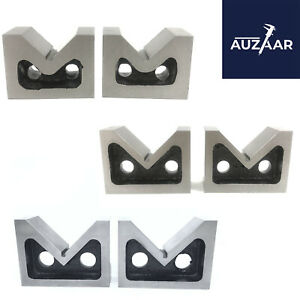 Cast Iron Vee Blocks Set Of 2 Pcs All Sizes 2 3 4 Inch V Block Without Clamp