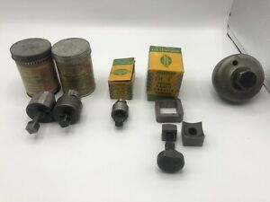 Greenlee Round Radio Chassis Punch Lot Of 5