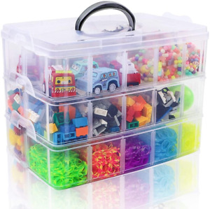 SGHUO 3 Tier Stackable Storage Container Box with 30 Compartments Plastic Box $21.60