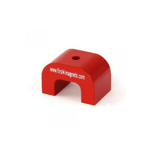 Large Red Alnico Horseshoe Magnet 24 26lbs Pull