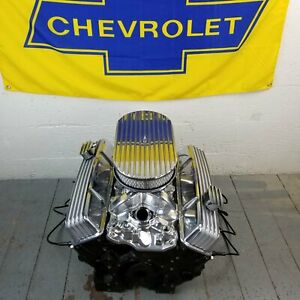 Sb Chevy 15 Finned Ac Engine Dress Up Kit Tall Valve Covers Pcv Breathers 350 Fits Corvette