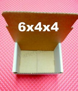 Ten White 6 X 4 X 4 Shipping Gift Storage Boxes Small Corrugated Mailers