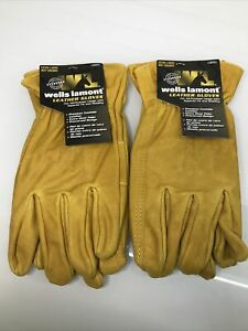 Wells Lamont Premium Leather Work Gloves 2 Pair Pack Xl Extra Wear Palm