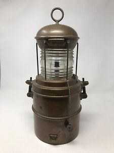 Antique Perko Perkins Marine Nautical Lamp Wired And Tested
