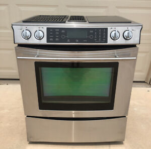 Jenn air Electric Downdraft Range Oven Grill Convection Stove Jes9860bas Tested