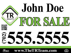 10 Pack 24 X 24 Full Color Double Sided plastic Real Estate Yard Signs