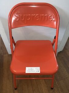Supreme Metal Folding Chair Red 2020 Fw20 100 Authentic New Free Shipping