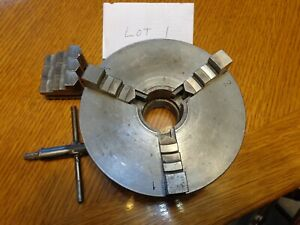 Craftsman 3 Jaw Scroll Chuck Fits Atlas Lathes With 1 5 8 Spindle Threads