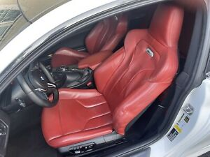 Bmw M4 Red Fromt Seats
