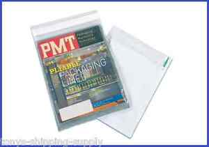 100 Clear View Magazine Mailer Shipping Plastic Envelope Bags 7 Sizes Avail
