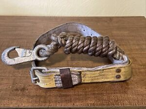 Vintage Lineman s Safety Belt miller fall Protection mill construction tool