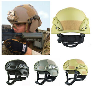 Men Army Military Tactical Cover Paintball Protective Helmet Outdoor Hats Travel C $34.85