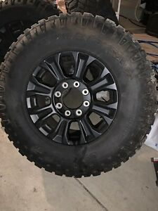 Set Of Four Tremor Super Duty Black Wheels And Tires