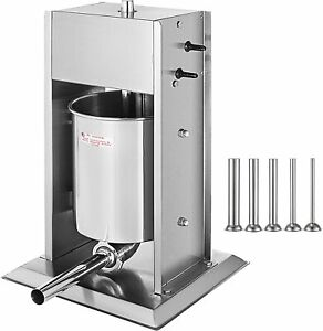 Manual Sausage Stuffer Maker 7l Capacity Two Speed Vertical Meat Filler Stainles