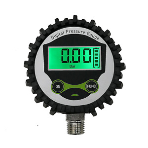 Digital Low Pressure Gauge With 1 4 Npt Bottom Connector And Rubber Protector