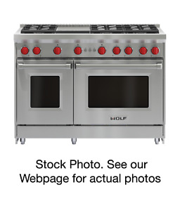Wolf 48 Stainless Steel Gas Range With Infrared Griddle Model Gr486g