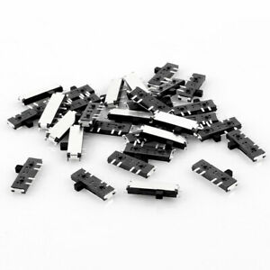 30 Pcs On on on 8 Pin 2p2t Dpdt Miniature Smd Smt Slide Switch 10mm X 3mm