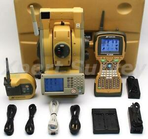 Topcon Gpt 9005a 5 Reflectorless Robotic Total Station Gpt9005 W Fc 2500 Rc 4r