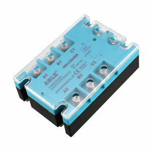 Ash 3 Da4825 3 32vdc To 480vac 25a Three Phase Solid State Relay Module Dc To Ac