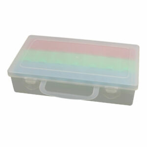 Plastic 21 Compartments Electronic Component Storage Box Case Container